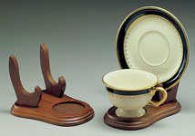 Cups and Saucers:  Elevated Cup & Saucer Stands