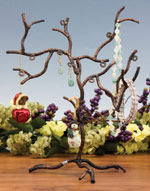 Wrought Iron Earing & Jewelry Tree