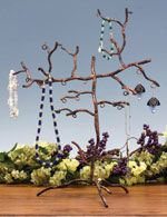 Wrought Iron Jewelry and Earing Tree