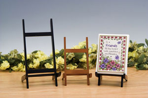 Plate Stands:  Folding Wood Easels