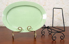 Platter & Bowl  Stands:  Heavy Duty Wrought Iron  Bowl & Platter Stands