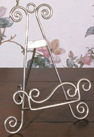 Plate Stands:  Silver Finish Easel Stand / Hanger
