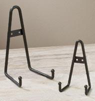 Large Black Wrought Iron Bowl Wall Hanger / Stand
