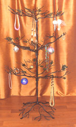 Large Wrought Iron Ornament Tree