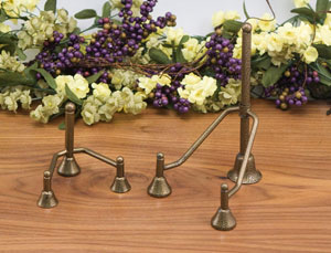 Plate Stands:  Antique Gold Tri-Post Stands