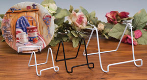 Plate Stands:  Vinyl Coated Easels