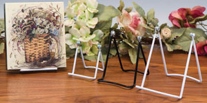 Plate Stands:  Adjustable Vinyl Coated Easels