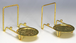 Cups and Saucers:  Brass Cup & Plate Stand