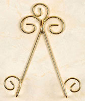 Plate Rails & Plate Racks:  Cup & Saucer Wall Hanger,  Brass Wire Cup & Saucer Hanger holder