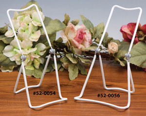 Plate Stands:  Three Wire Vinyl Coated Utility Stand