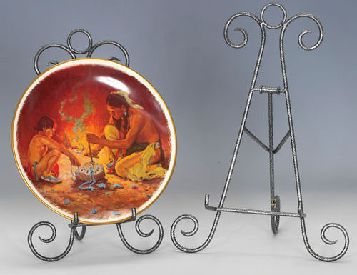 Plate Stands Antique Silver Finish Easels & Plate Bowl \u0026 Platter Holder Stands and Bowl Stands Platter Stands ...