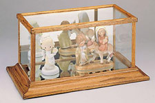 Doll & Figurine Wood & Glass Display Case