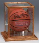 wood u0026 glass basketball display cases - Basketball Display Case