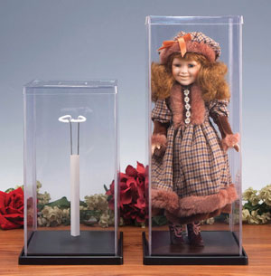 Plastic Doll Cases With Stand for Small Dolls - Plastic Display Case:  Doll Case / Cover For Small Dolls