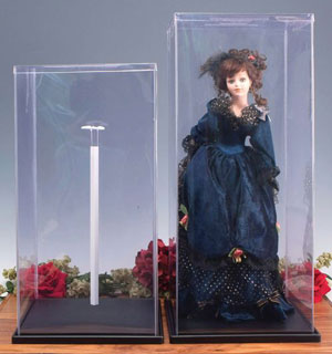 Plastic Doll Case With Stand for Large Dolls - Plastic Display Case:  Doll Cover / Case  for Large Dolls