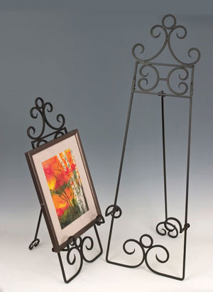 Painting Stands:  Large Wrought Iron Easels