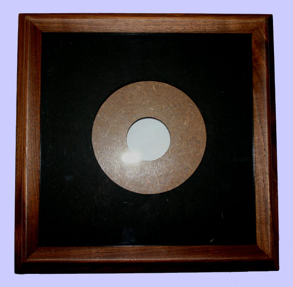 collector plate frames round walnut finish wood plate frames
