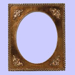 Ornately Decorated Antique Style Plate Frame