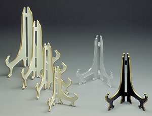 Plate Stands:  Plastic Hinged Stands
