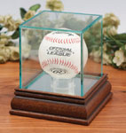 Wood & Glass Baseball Collector Display Cases