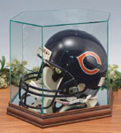 Clear Glass Football Helmet Display Case