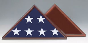 Display Case:  Flag Display Case - Memorial or Military Burial Flag Case