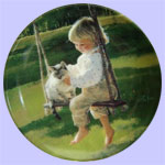 The Garden Swing - Times To Treasure Mini Plate - Donald Zolan