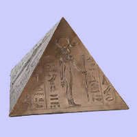Egyptian Pyramid Bronze Creamation Urns For Ashes