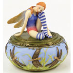 Debbie Kaspari - Wings of Enchantment - Fairy Figurines  - Faerie, fairie, faery, fay, fae, fey Dragonfly Fairy Jewelry Box