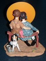 Puppy Love Figurine - Norman Rockwell - Danbury Mint Porcelain Figurine