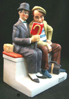 The Interloper - Norman Rockwell - Danbury Mint Porcelain Figurine