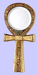 Ankh Hand Mirror - Ancient Egyptian Reproductions