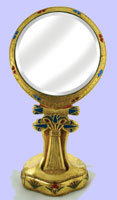 Egyptian Style Hand Mirror With Stand
