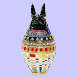 Austrian Crystal Jeweled Egyptian Box
