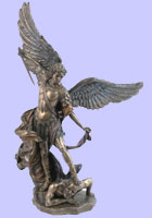 Bronze Saint Michael The Archangel  Statue  - Guido Reni