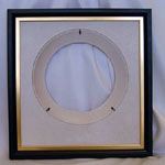 Collectible Wall Plate Frame:  Black Finish Wood Plate Frame With Gold Liner
