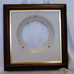 Oak Finish Wood Plate Frame With Gold Liner