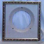 Collectible Wall Plate Frame:  Silver Finish Wood Plate Frame