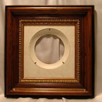 Collectible Wall Plate Frame:  Walnut Brown Finish Wood Plate  Frame