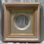 Collectible Wall Plate Frame:  Oak White Wash Finish Wood Plate  Frame
