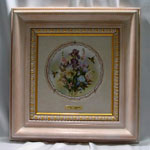 Collectible Wall Plate Frame:  Oak White Wash Finish Wood Frame
