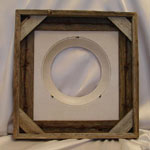 Collectible Wall Plate Frame:  Rustic Natural Wood Plate Frame With Barb Wire