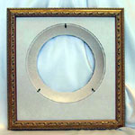 Collectible Wall Plate Frame:  Gold Finish Wood Plate Frame