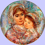 Edna Hibel - Mother's Day  2005 - Vivian & Child Plate