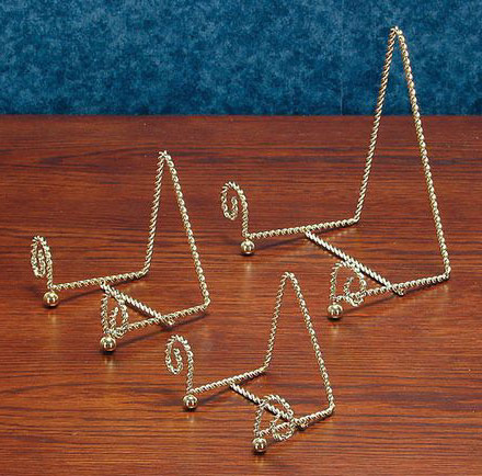 Plate Stands Gold Twisted Wire Easel Plate Stand : metal plate holder stand - pezcame.com