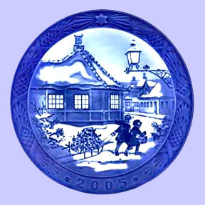 2005 christmas plate royal copenhagen christmas plate sven vestergaard - Royal Copenhagen Christmas Plates