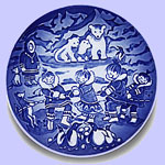 Royal Copenhagen Children's Christmas Plate - Ingrid Jensen