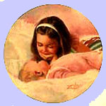 Sisterly Love - Donald Zolan  Plate - Special  Moments of Childhood