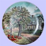 Autumn Currier & Ives Four Seasons Plates
