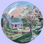 Spring Currier & Ives Four Seasons Plates